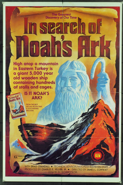 IN SEARCH OF NOAH'S ARK (1976) 4290 Original Sun Classic Pictures One Sheet Poster (27x41). Folded.  Fine Plus Condition.