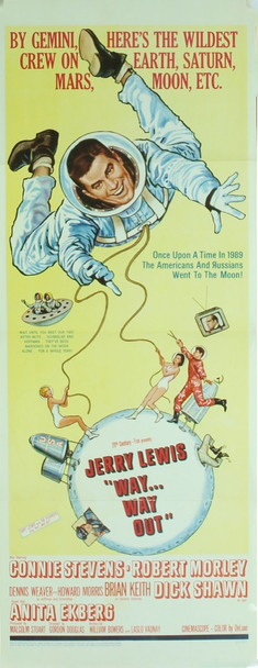 WAY...WAY OUT (1966) 4892 Original 20th Century Fox Insert Poster (14x36).  Very Fine Condition.