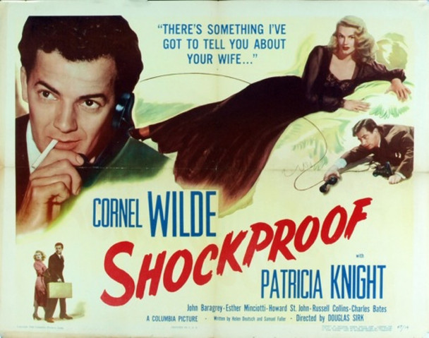 SHOCKPROOF (1949) 4907 Original Columbia Pictures Half Sheet Poster (22x28).  Very Good Condition.