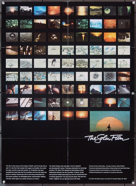 SOLAR FILM, THE (1980) 8416 Original Warner Brothers Poster (23x31).  Folded.  Very Fine Condition.