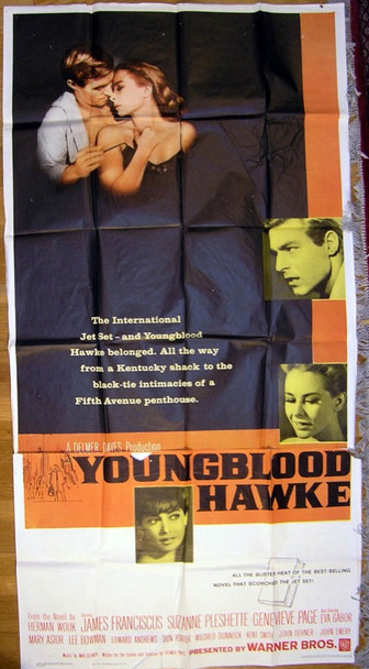 YOUNGBLOOD HAWKE (1964) 14385 Original Warner Brothers Three Sheet Poster (41x81).  Folded.  Fine Condition.