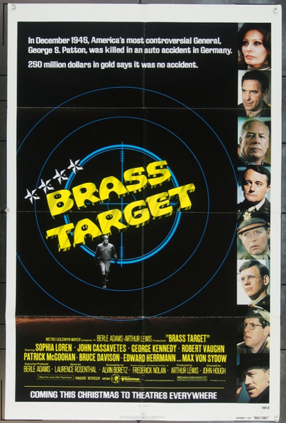 BRASS TARGET (1978) 11916 Original Advance or Teaser One sheet.  27x41.  Folded.  Fine plus condition
