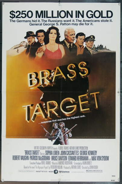 BRASS TARGET (1978) 11917 Original MGM One Sheet Poster.  27x41.  Folded.  Very Fine.