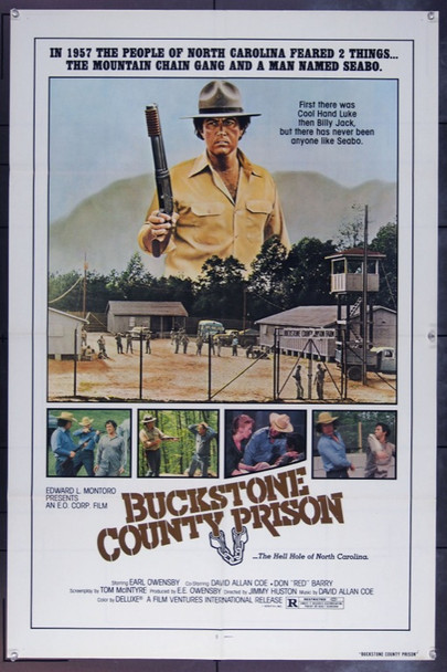 BUCKSTONE COUNTY PRISON (1978) 11915 Original Film Ventures International One Sheet Poster (27x41).  Folded.  Very Fine.