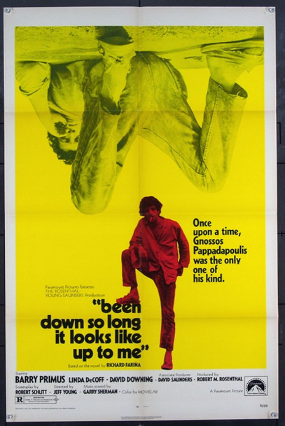 BEEN DOWN SO LONG IT LOOKS LIKE UP TO ME (1971) 2178 Original Paramount Pictures One Sheet Poster (27x41).  Folded.  Fine Plus Condition.