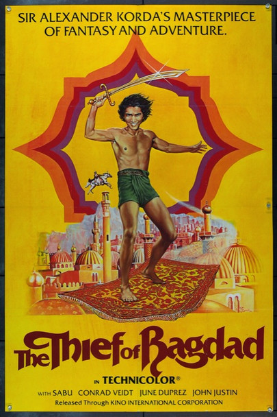 THIEF OF BAGDAD, THE (1940) 2189 Original Kino International One Sheet Poster (27x41).  1978 Re-Release. Bruce Emmett Art. Very Fine Condition.