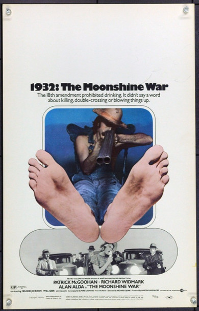MOONSHINE WAR, THE (1970) 21826 Original MGM Window Card (14x36).  Unfolded.  Very Fine Condition.