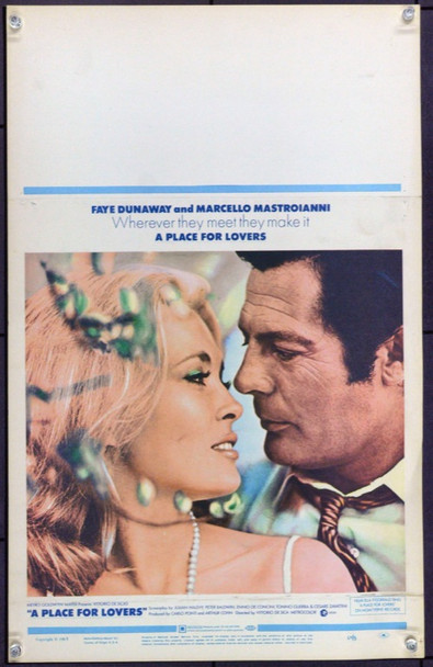 PLACE FOR LOVERS, A (1968) 21916 Original MGM Window Card (14x36).  Unfolded.  Very Fine.