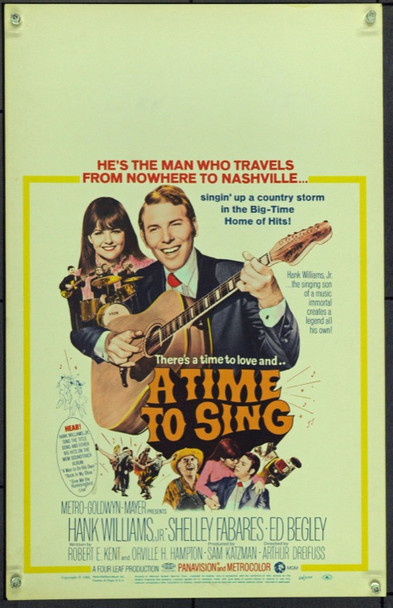 TIME TO SING, A (1968) 21941 Original MGM Window Card.  14x22. Very Fine.