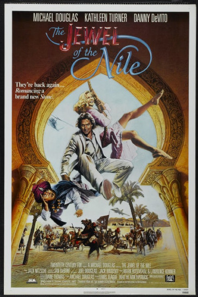 JEWEL OF THE NILE, THE (1985) 20408 Original 20th Century Fox One Sheet Poster (27x41).  Never folded.  Near mint condition.