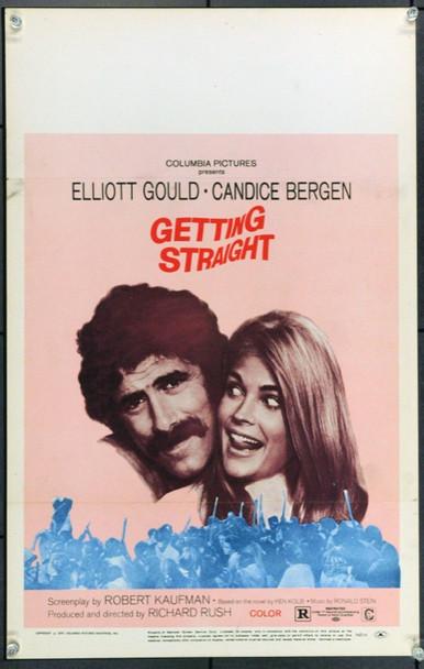 GETTING STRAIGHT (1970) 21863 Original Columbia Pictures Window Card (14x22).  Unfolded.  Very Fine.