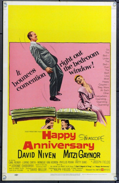 HAPPY ANNIVERSARY (1959) 21867 Original United Artists Window Card (14x22).  Unfolded.  Very Fine.