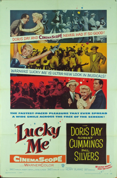 LUCKY ME (1954) 9176 Original Warner Brothers One Sheet Poster.  27x41.  Very Good Condition