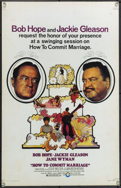 HOW TO COMMIT MARRIAGE (1969) 21873 Original Cinema Releasing Corporation Window Card (14x22).  Unfolded.  Very Fine.
