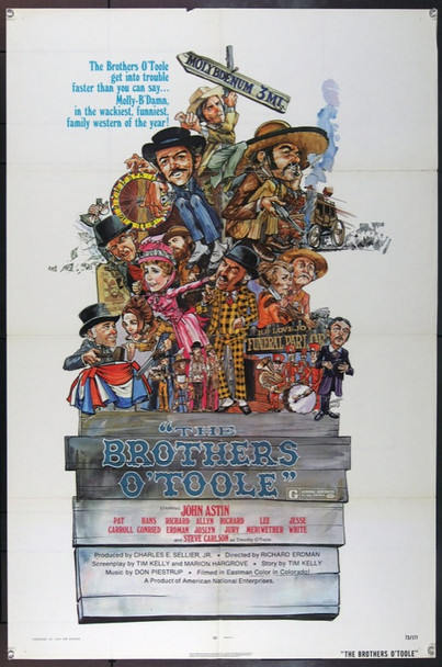BROTHERS O'TOOLE, THE (1973) 22573 Original American National Enterprises One Sheet Poster (27x41).  Folded.  Fine Plus.