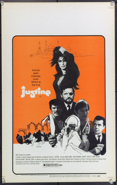 JUSTINE (1969) 21879 20th Century Fox Original Window Card (14x22) Very Fine Condition