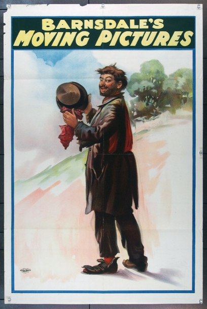 BARNSDALE'S MOVING PICTURES (1905) 8417 Original One Sheet Poster from 1905.  27x41.  Linen backed.