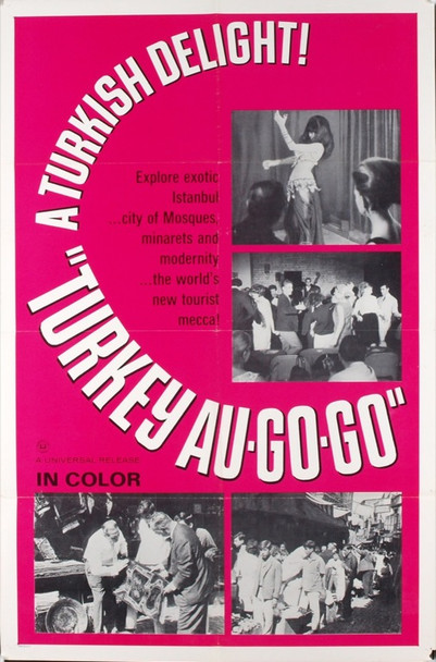 TURKEY AU-GO-GO 3372 Original Universal Pictures One Sheet Poster (27x41).  Folded.  Very Fine Condition.