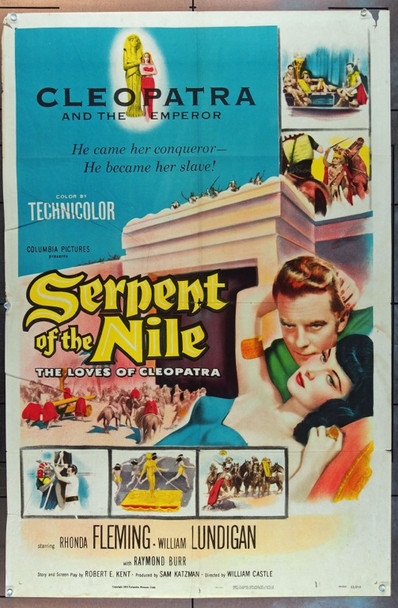 SERPENT OF THE NILE (1953) 748 Columbia Pictures One Sheet.  (27x41) Folded.  Very Good