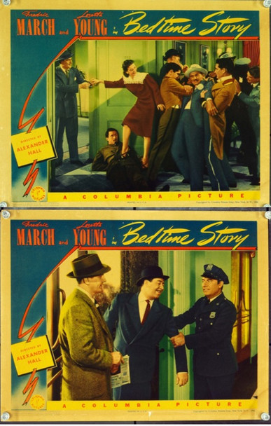 BEDTIME STORY (1941) 9521 Columbia Pictures Lobby Cards (2 cards) 11x14.  Very Good, Fine Plus.