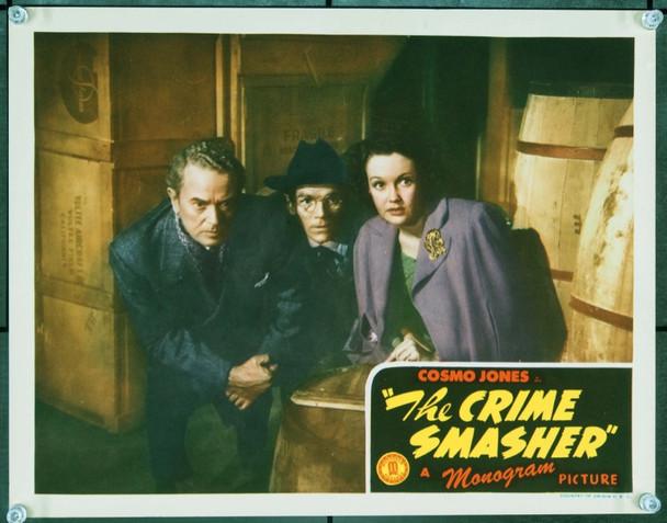 CRIME SMASHER (1943) 9522 Original Monogram Pictures Scene Lobby Card (11x14).  Very Fine Plus.
