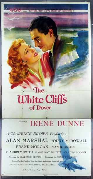 WHITE CLIFFS OF DOVER (1944) 15215 MGM Three Sheet Original Poster.   41x81.  Very Good.  Unassembled three sheet.