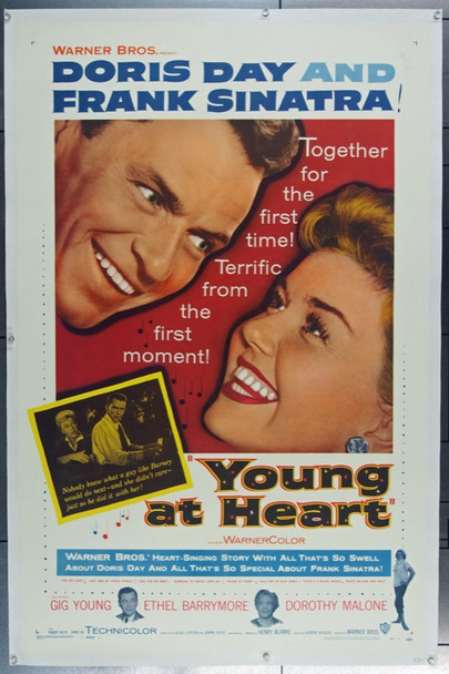 YOUNG AT HEART (1955) 9298 Warner Brothers One Sheet (27x41)  Linen backed.  Very Fine.