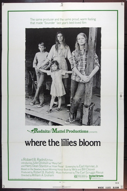 WHERE THE LILIES BLOOM (1974) 22640 Original United Artists One Sheet Poster (27x41).  Folded.  Fine Plus.