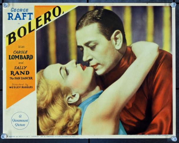 BOLERO (1934) J21712 Original Paramount Pictures Portrait Lobby Card (11x14).   Very Rare.   Very Fine Plus.