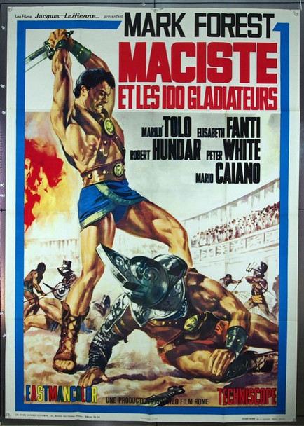 MACISTE, GLADIATORE DI SPARTA (1964) 11848 French Re-Release Poster for MACISTE, GLADIATORE DI SPARTA.   (47X63)