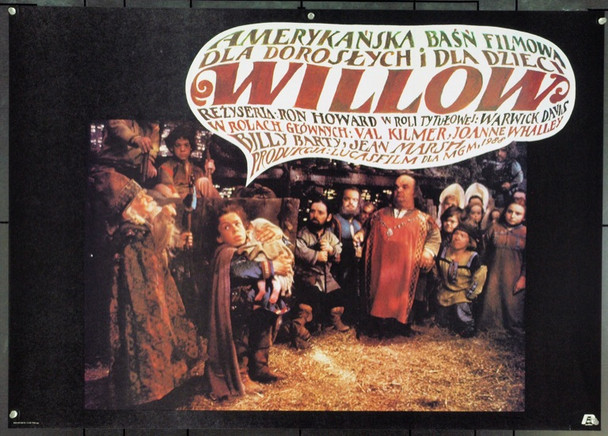 WILLOW (1987) 22071 Original Polish Poster (26x37). Very Fine.