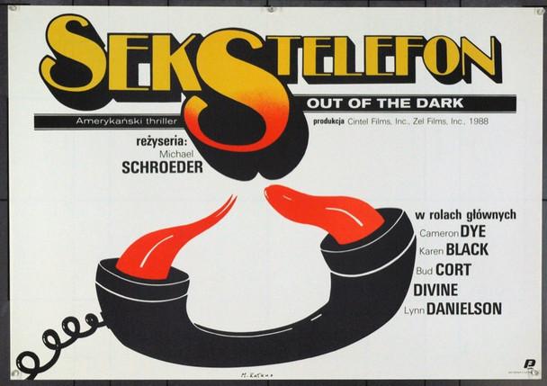 OUT OF THE DARK (1988) 22064 Original Polish Poster (26x37 in horizontal format). Maciej Kalkus Artwork. Very Fine.