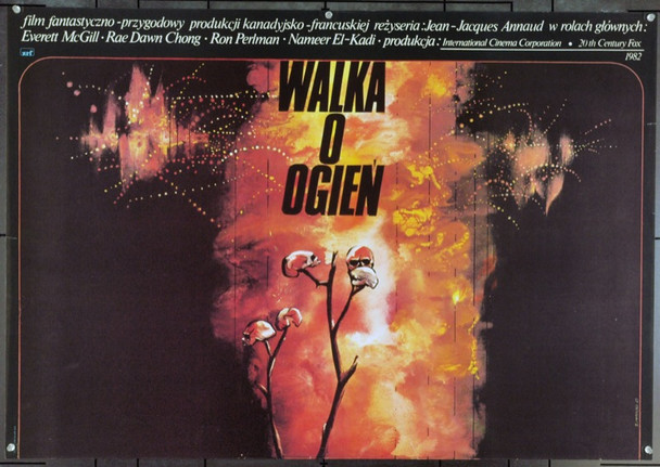 QUEST FOR FIRE (1982) 22066 Original Polish Poster (27x39). Zdzislaw Walicki Artwork. Very Fine.