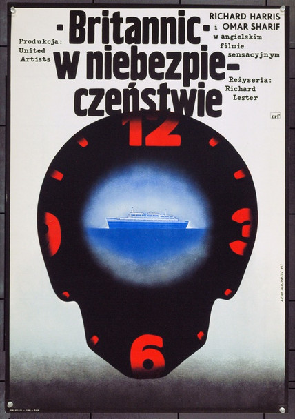 JUGGERNAUT (1974) 22060 Original Polish Poster (23x33). Lech Majewski Artwork. Very Fine.