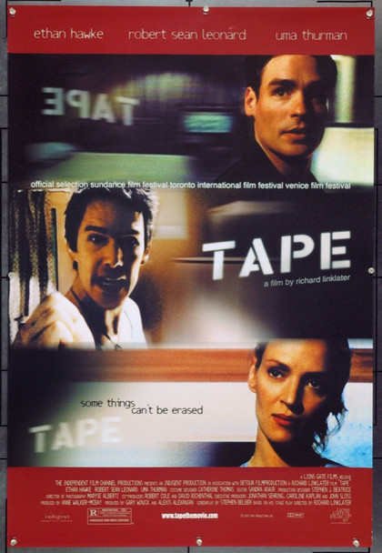 TAPE (2001) 22045 Original Lions Gate Films One Sheet Poster (27x41). Very Fine Plus.