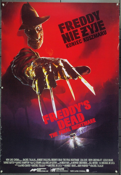 FREDDY'S DEAD: THE FINAL NIGHTMARE (1991) 22056 Original Polish Poster  (26 3/4 x 39) Unfolded.  Fine Plus