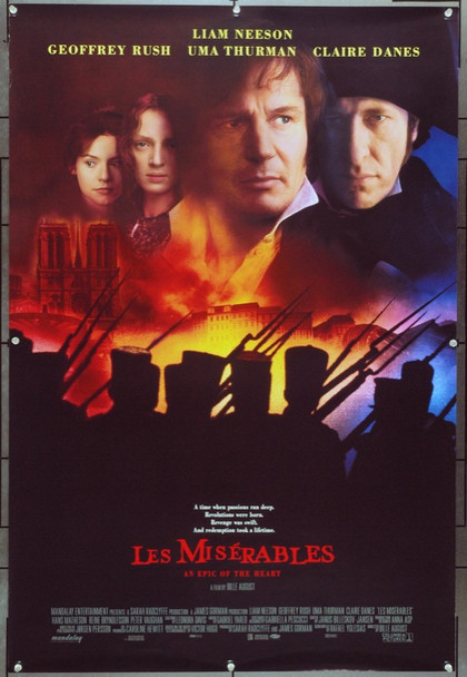 LES MISERABLES (1998) 22039 Original Columbia Pictures One Sheet Poster (27x41).  Unfolded.  Very Fine.