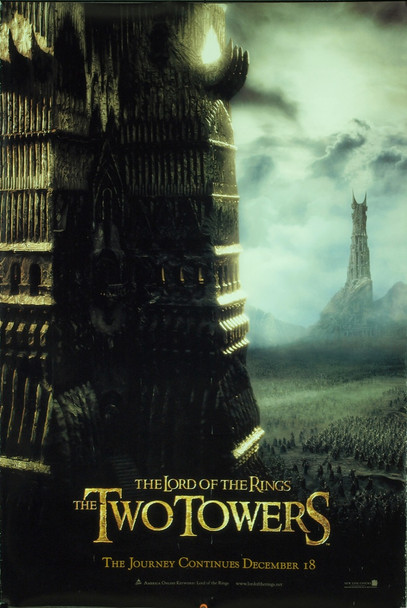 LOTR: THE TWO TOWERS (2002) 22042 Original New Line Cinema Style A Advance One Sheet Poster (27x41). Very Fine Plus.