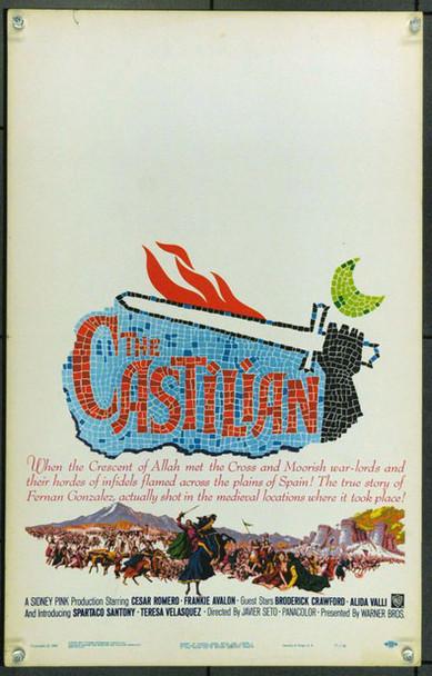 CASTILIAN, THE (1963) 21840 Original Warner Brothers Window Card (14x22). Very Fine.