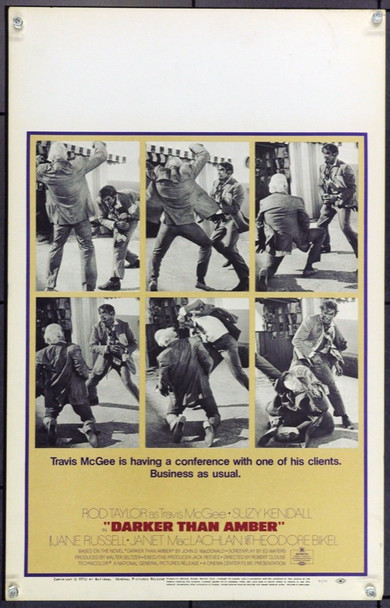 DARKER THAN AMBER (1970) 21843 Original National General Pictures Window Card (14x22). Very Fine.