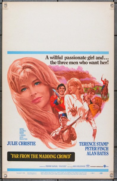 FAR FROM THE MADDING CROWD (1967) 21855 Original MGM Window Card (14x22). Very Fine.