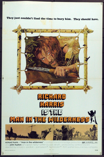 MAN IN THE WILDERNESS (1971) 21765 Original Warner Brothers One Sheet Poster (27x41). Folded. Very Fine Plus.