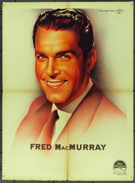 FRED MACMURRAY (1958) 21786 Original French Personality Poster (24x32). Folded. Very Good.