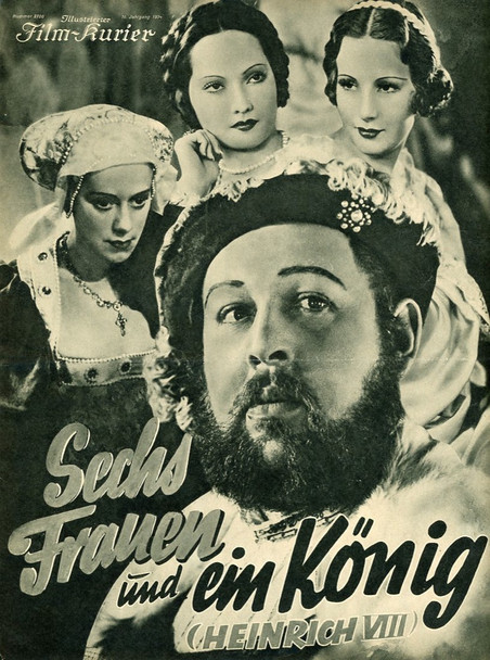 PRIVATE LIFE OF HENRY VIII (1933) 21668 Original 8-Page German Program (8x11). Very Fine.