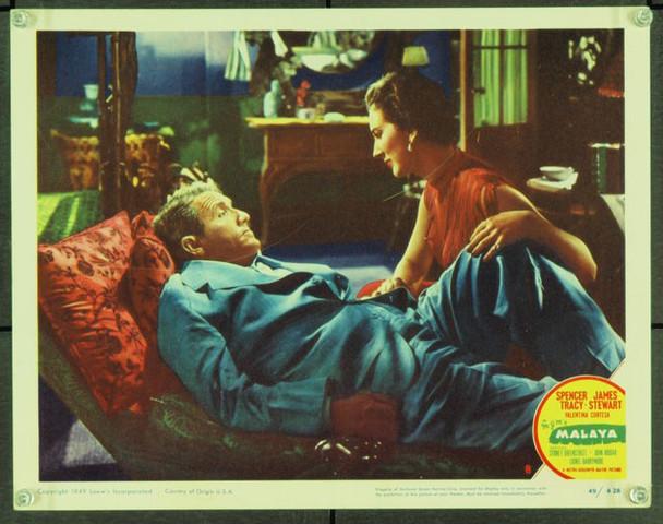 MALAYA (1949) 21632 Original MGM Scene Lobby Card (11x14). Very Fine.