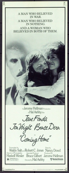 COMING HOME (1978) 21653 Original United Artists Insert Poster (14x36). Unfolded. Very Fine Plus.
