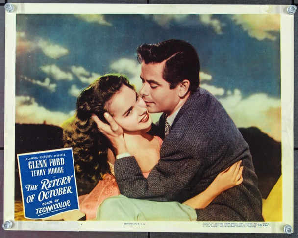 RETURN OF OCTOBER, THE (1948) 15008 Original Columbia Pictures Scene Lobby Card (11x14).  Very Good Condition.