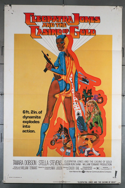 CLEOPATRA JONES AND THE CASINO OF GOLD (1975) 3377 Original Warner Brothers One Sheet Poster (27x41).  Folded.  Average Used Condition  Graded as Good
