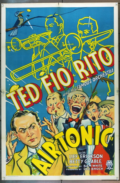 AIR TONIC (1933) 14921 Original RKO One Sheet Poster.  27x41.  Folded.  Fine Condition.