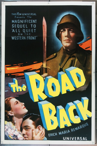 ROAD BACK, THE (1937) 22709 Original Universal Pictures One Sheet Poster (27x41).  Folded.  Very Fine Condition.